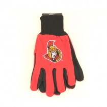 Ottawa Senators Gloves - 2Tone Red/Black - $3.50 Per Pair