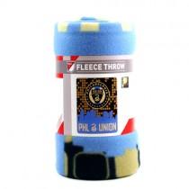 "Philadelphia Union FC Blankets - 50""x60"" Fleece - Skyline Style - $9.50 Each"