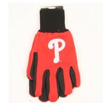 Philadelphia Phillies Gloves - 2Tone Red.Black - P Logo - 12 Pair For $36.00