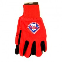 Overstock - Philadelphia Phillies Gloves - Red.Black Field Logo Style - 12 Pair For $30.00