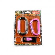 Carabiner Set - Pink Camo Mossy Oak Carabiner Set - 24 Sets For $24.00
