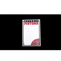 """Detroit Pistons Notepads - 5""""x8"""" - 40 Sheets Per Pad - 24 Pads For $12.00"""