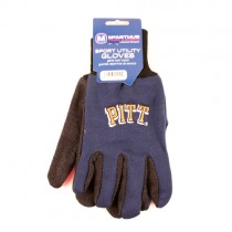 Overstock - Pittsburgh Panthers Gloves - Black.Blue Grip Gloves - 12 Pair For $30.00