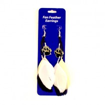 Blowout - Pittsburgh Panthers Dangle Feather Earrings - 12 Pair For $24.00