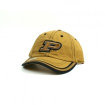 University Of Purdue Hat - Gold Hat With Black Trim - 2 For $10.00