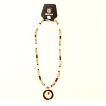 """Washington Redskins Necklace - 18"""" Natural Shell With Pendant - 12 Necklaces For $78.00"""