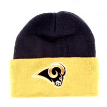 Overstock - Los Angeles Rams Knits - 2Tone CUFFED Knits - YOUTH - Blue With Yellow Cuff - 12 For $36.00
