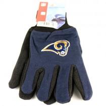 Overstock - Wholesale Gloves - St. Louis Rams Gloves - 2Tone Gloves Black.Blue Grip Gloves - 12 Pair For $30.00