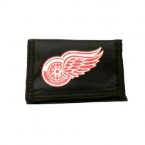 Style Change - Detroit Red Wings Wallets - Nylon Tri-Fold Style - (Slight Imperfections in Printing) - 12 For $24.00