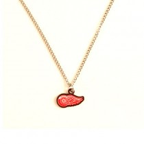 Detroit Red Wings Necklace - AMCO Metal Chain and Pendant - $3.00