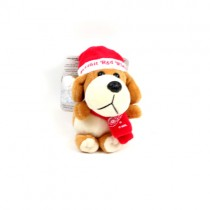 """Detroit Red Wings Ornaments - 4"""" Plush Dog Style Ornament - 12 For $30.00"""