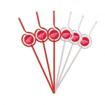 Detroit Red Wings Straws - 6Pack Team Sips - $1.50 Per Pack