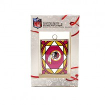 Washington Redskins Ornament - Stained Glass Suncatcher Style Ornament - 12 For $30.00