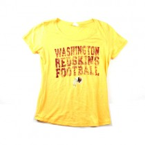 Washington Redskins Shirt - Yellow Shirt With Distressed Logo - Assorted Sizes - 6 For $30.00