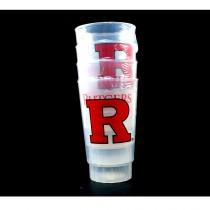 Blowout - Rutgers University - 4Pack 16OZ Tumbler Sets - 12 Sets For $24.00