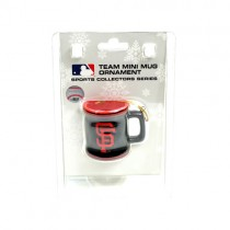 San Francisco Giants Ornaments - Mini Mug Style Ornaments - 12 For $30.00