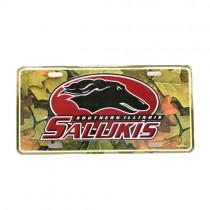 Blowout - SIU - Salukis - Camo License Plates - Plastic - 12 For $12.00
