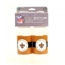 Overstock - New Orleans Saints Baby Bottles - 2Pack Bottles - 12 Sets For $48.00