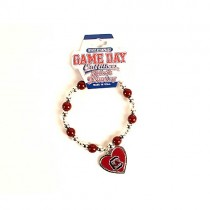 South Carolina Gamecocks Jewelry - GameDay Heart Bracelets - 12 For $24.00