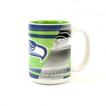 Seattle Seahawks Mugs - 15oz Shadow Style Mugs - 2 For $10.00
