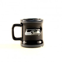 Seattle Seahawks Shot Glass - 2OZ Sculpted ShotMugs (Pattern May Be Different Than Pictured) - 12 ShotMugs For $39.00