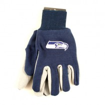 Overstock - Seattle Seahawks Gloves - Blue.Gray 2Tone Gloves - 12 Pair For $30.00
