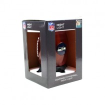 "Seattle Seahawks Night Light - 8"" Table Top Football Style Night Light - 2 For $8.00"