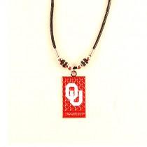 Oklahoma Sooners Necklaces - Diamond Plate Style - $3.50 Each