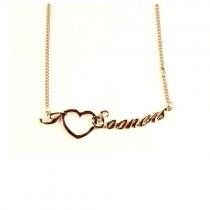 Oklahoma Sooners Necklace - Heart Style - $4.00 Each
