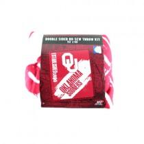"Oklahoma Sooners Blankets - Double Sided No-Sew 50""x60"" Fleece Blanket Kits - $9.50 Each"