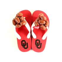 Oklahoma Sooners Sandals - YOUTH Assorted Sizes - 12 Pair For $36.00