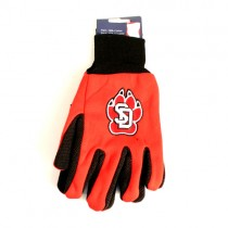 South Dakota Coyotes- Red/Black Grip Gloves - $3.50 Per Pair
