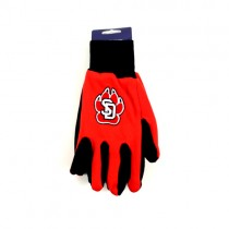 South Dakota Coyotes - Grip Gloves - The Black Palm Series - 12 Pair For $36.00