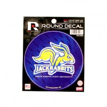 Special Buy - South Dakota State Jack Rabbits - Round Decal Style - 12 For $18.00