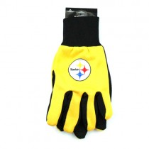 Pittsburgh Steelers Gloves - Black Palm Series - (Pattern May Be Different Than Pictured) - $3.50 Per Pair