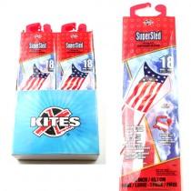 Wholesale Kites - Super Sled Brand - 24 Kites Per Display - $18.00 Per Display