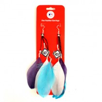 Tampa Bay Rays Earrings - Feather Dangle Style - $2.75 Per Pair