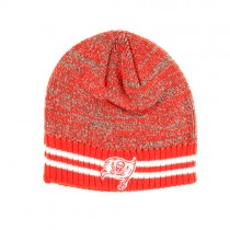 Tampa Bay Buccaneers Merchandise - The Canvas Beanies - 2White Stripe Red.Black Beanies - $7.50 Each