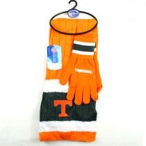Tennessee Volunteers Scarf Sets - (Pattern May Be Different Than Pictured) Knitted Scarf And Glove Sets - $12.50 Per Set