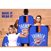 """Opportunity Buy - Oklahoma City Thunder Flags - 36""""x47"""" Fan Flags - 2 For $12.00"""