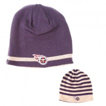 Tennessee Titans Knits - Reversible - Gray Band With Flipside Multistripe Beanies - $7.50 Each