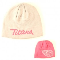 Tennessee Titans Knits - Reversible Beanie - Pink With Flipside Gray - $7.50 Each