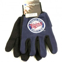 Overstock - Minnesota Twins Gloves - Dark Blue / Black 2Tone Grip MLB Gloves - 12 Pair For $30.00
