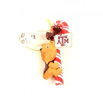 Texas A&M Ornaments - Candy Cane Mascot Style - 12 For $30.00