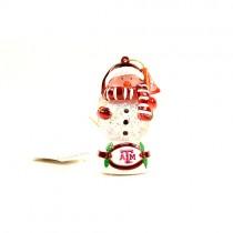 Texas A&M Ornaments - Snowman Scarf Dude - 12 For $24.00