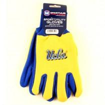 UCLA Gloves - Script Logo - Yellow Face / Blue Palm - $3.50 Per Pair