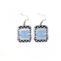 UNC Tarheels Earrings - The POLKA DOT Dangle - 12 Pair For $30.00