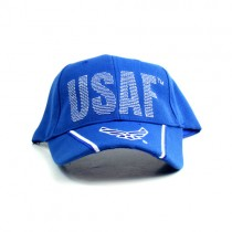 United States Air Force Hats - USAF Script With Wing Logo Bill - 12 For $39.00