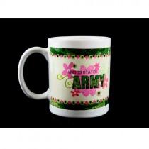 Army Coffee Mug - 12oz Flower Style Ceramic - 12 For $24.00