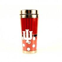 University Of Indiana - Polka Dot Style Travel Mugs - 12 For $48.00